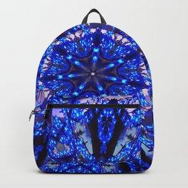 Blue Knight Starburst Mandala Backpack