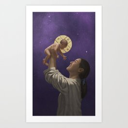 For Unto Us a Child is Born Art Print