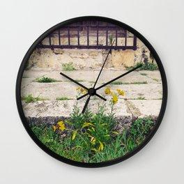 The Flower Lane Wall Clock