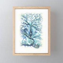 Tree of Life (blues) Framed Mini Art Print