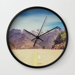 Long Mountain Road Wall Clock