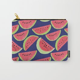 Watermelon Wonder - Navy Background Carry-All Pouch
