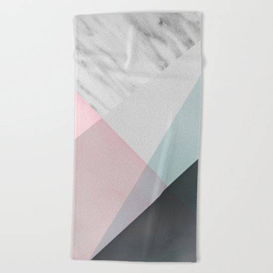Scandinavian Mood Geometry Beach Towel