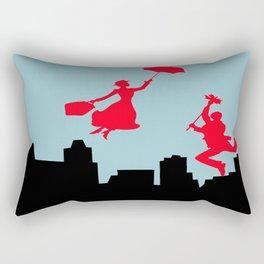 Blue Mary Poppins Rectangular Pillow