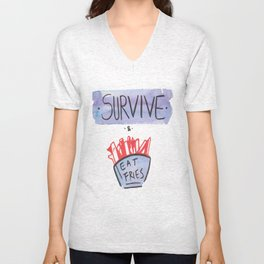 Survive and Eat Fries Unisex V-Neck