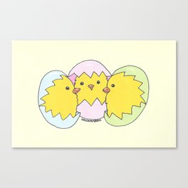 """""""Chick Chat"""" Canvas Print"""