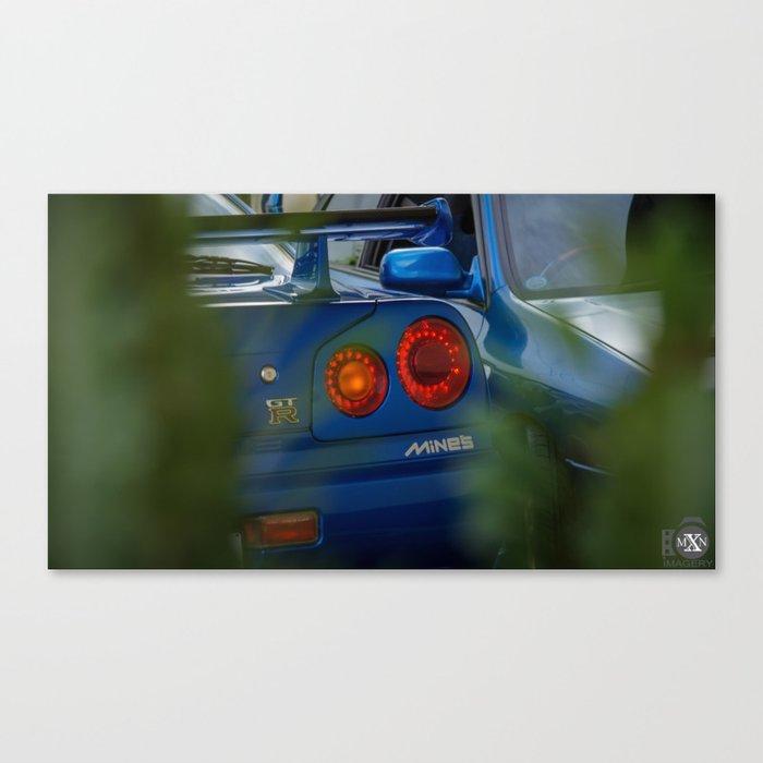 Mines Tuned Stage 2 V Spec 2 Nissan Skyline GTR R34 Canvas Print