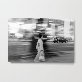 Walking in Tokyo Metal Print
