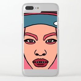 Asian Beauty : Snapback Girl Clear iPhone Case