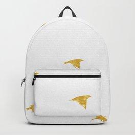 Raven Birds in Gold Copper Bronze Backpack