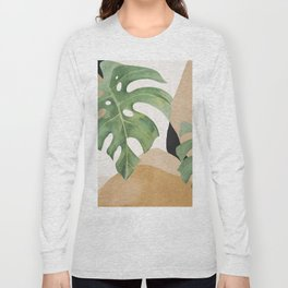 Abstract Art Tropical Leaves 3 Long Sleeve T-shirt