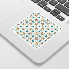 Geometric Pattern, oriental style (nature color set)  traditional morocco tile pattern Sticker