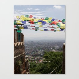 Prayer Flags Over Kathmandu Canvas Print