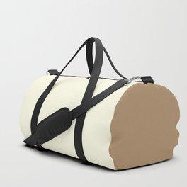 Vanilla / Ice Coffee Gradient Colors Duffle Bag