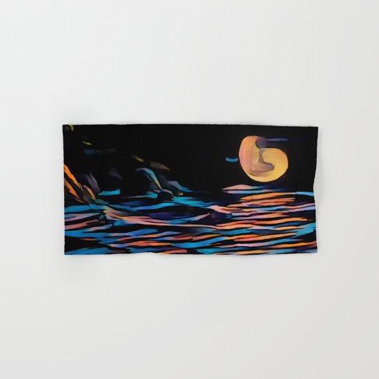 Moon over Beach Hand & Bath Towel