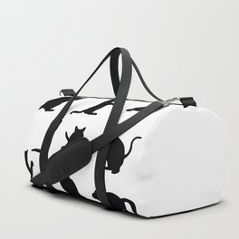 Cat Silhouette Duffle Bag