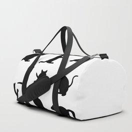Cat Silhouette Duffle Bag
