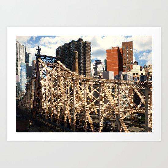 From the Tram - New York Art Print