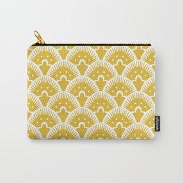 Fan Pattern Mustard Yellow 201 Carry-All Pouch