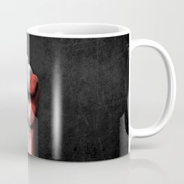 Flag of France on a Raised Clenched Fist Coffee Mug