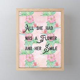 Surfer girl quotes Framed Mini Art Print