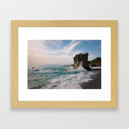 Marina di Maratea - Splashes Framed Art Print