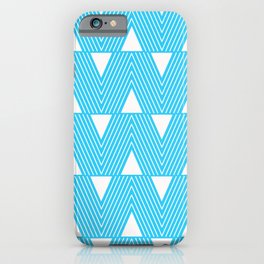 Triangles- Teal Triangle Pattern for hot summer days - Mix & Match iPhone Case