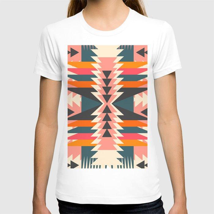 Colorful ethnic decoration T-shirt