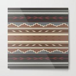 American Native Pattern No. 121 Metal Print