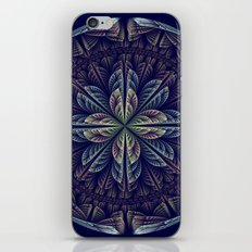 Fantasy flower bud opening up, fractal abstract iPhone Skin