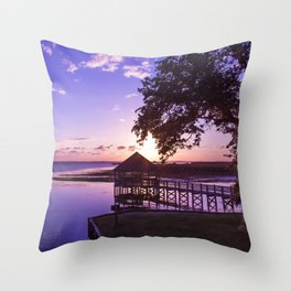 Sunset at Heritage Park Throw Pillow