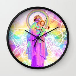 Our Lady of Sacred Geometry Wall Clock