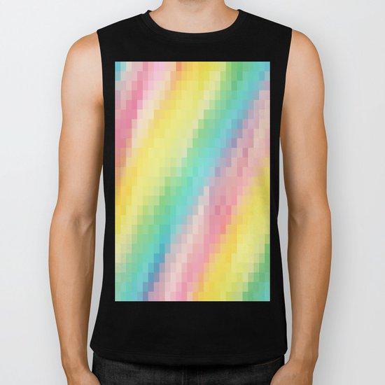 Rainbow pixels Biker Tank