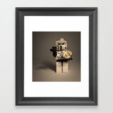 Death or Flowers Framed Art Print