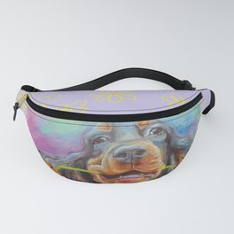 Gordon Setter Dog with flowers Valentine's Day gift Fanny Pack