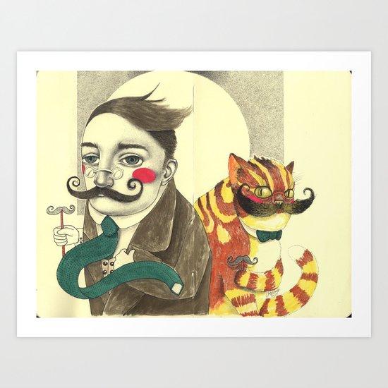 Two Fine Gentlemen Art Print