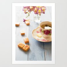 Tea and Mahjong  Art Print