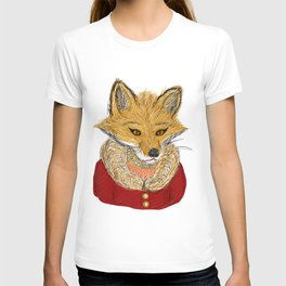 Sophisticated Fox Art Print T-shirt