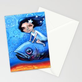 Fishing Girls Stationery Cards