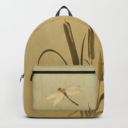 Cattails And Dragonfly Backpack