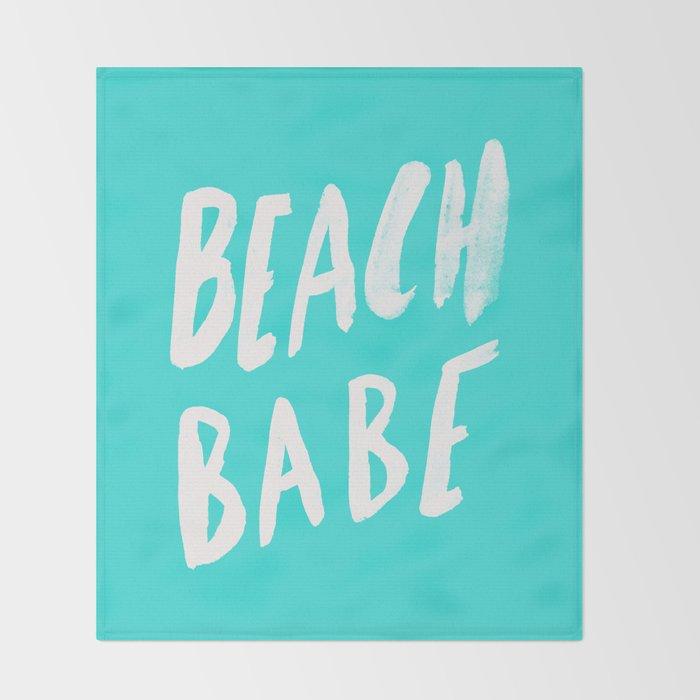 Beach Babe x Teal Throw Blanket