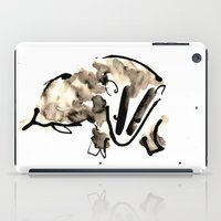badger iPad Cases featuring Badger by Jen Moules