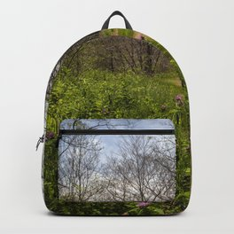 Troubled summer woods Backpack