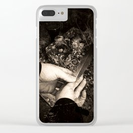 Two For Sorrow Clear iPhone Case