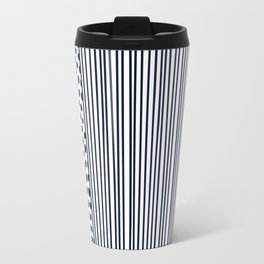 Dots and Stripes Modern Navy and White Travel Mug