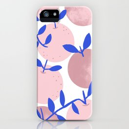 Modern clementines in blush iPhone Case