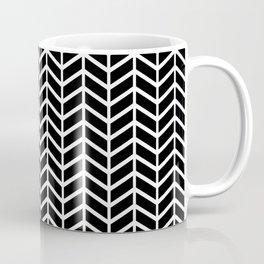 Black & White Chevron Arrowheads Coffee Mug