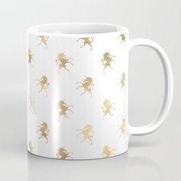 Gold Unicorn Pattern Coffee Mug