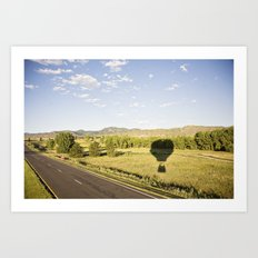 away we go::denver Art Print
