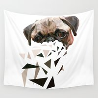 pug Wall Tapestries featuring PUG by MGNFQ